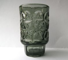 Vintage Grey Glass Vase Designed By Jan Sylvester Drost, Sklo Union Era.