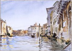 The grand canal Venice John Singer Sargent