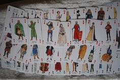 Kings & Queens of England playing card game , 1992 heritage company by Spritejewelry on Etsy