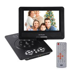 LESHP 9-Inch Portable DVD Player CD Player with Swivel Screen, Rechargeable Battery, SD Card Slot and USB Port.