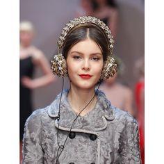 Casque Audio En Cuir Métallisé À Ornements + Dolce & Gabbana : mytheresa.com