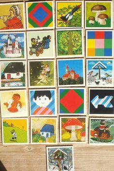 Vintage memory kaarten, 21 stuks, 1981, 5,5 x 5,5 cm, Ravensburger, karton, hobbymateriaal  [c] by LabelsAndMore on Etsy