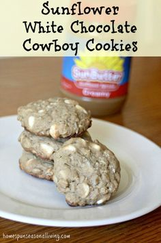 To eat or to ship, these Sunflower White Chocolate Cowboy Cookies are ...