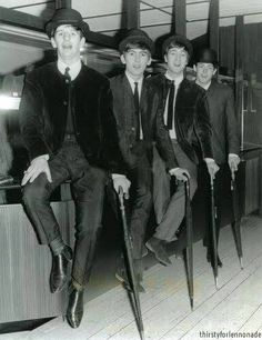 The Beatles: Ringo Starr, George Harrison, John Lennon, and Paul McCartney (August Ringo Starr, George Harrison, John Lennon, Beatles Love, Beatles Photos, Liverpool, Paul Mccartney, Lps, Derby