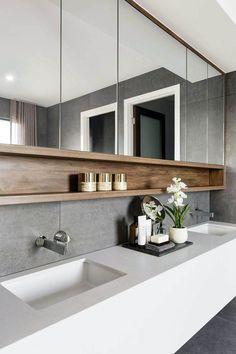 55 Stunning Farmhouse Bathroom Mirror Design Ideas And Decor - . 55 Stunning Farmhouse Bathroom Mirror Design Ideas And Decor - Always aspired. Farmhouse Bathroom Mirrors, Bathroom Mirror Design, Bathroom Renos, Modern Bathroom Design, Bathroom Styling, Bathroom Interior Design, Bathroom Renovations, Bath Design, Bathroom Inspo