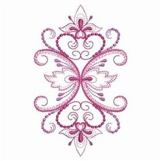 Another pretty design that can be used for redwork, blue work, or black work.