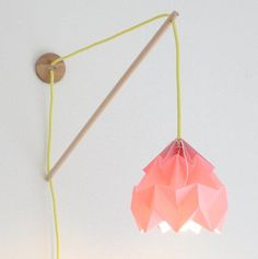 Nelli Anna lamps Studio Snowpuppe paper origami lampshades for the home. We hope snowpuppe will make you smile and bright up your living. House Design Photos, Modern House Design, Deco Luminaire, Nursery Lighting, Turbulence Deco, Wall Fixtures, Light Fixtures, Wall Sconces, 3d Prints