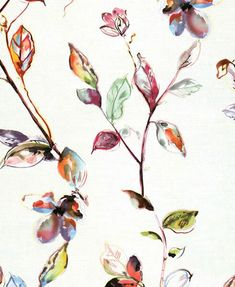 A nature inspired multicoloured leaf spray design with a modern feel, sold by S & A Supplies at discounted prices Tree Leaf Wallpaper, Tree Leaves, Rooster, Nature Inspired, Modern, Pattern, Painting, Inspiration, Things To Sell