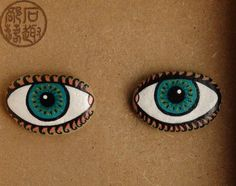 石趣部落原创手绘石头 情侣项链 项坠 毛衣链 你是我的眼-淘宝网