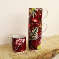 Image of Tropical Wine Stacking Mug Set