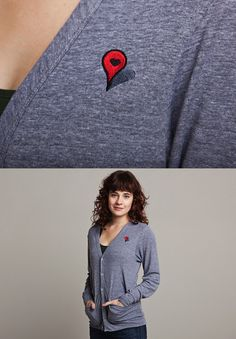 "Threadless cardigan: ""Where The Heart Is"" by John Tibbott - $44"