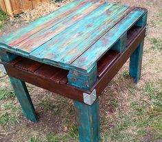 paint and stain on reclaimed pallet wood.