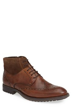 Free shipping and returns on Vince Camuto 'Dario' Wingtip Boot (Men) at Nordstrom.com. Soft suede paneling touches up a sharp wingtip boot clad in classic broguing.