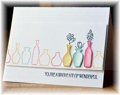 SU stamp Vivid Vases