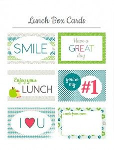 Printable Lunch Notes (FreeDownload)