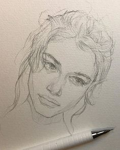art drawings Sketch By Reina Yamada. Reina Yamada is an artist who works actively in Japan. Continue Reading and for more art View Website Pencil Art Drawings, Art Drawings Sketches, Sketch Art, Cool Drawings, Drawing Drawing, Person Drawing, Photo Sketch, Portrait Sketches, Drawing Artist