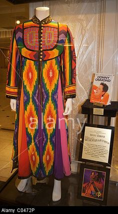"The title garment worn by Donny Osmond in Andrew Lloyd Webber's ""Joseph and the Amazing Technicolor Dreamcoat."" Stock Photo"