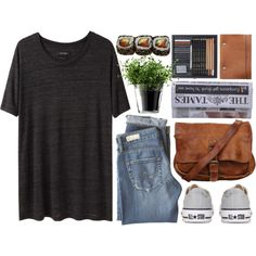 Herbs by vv0lf on Polyvore featuring Isabel Marant, AG Adriano Goldschmied, Converse, LSA International, Jura, women's clothing, women's fashion, women, female and woman