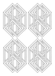 To print this free coloring page coloring op art jean larcher 3