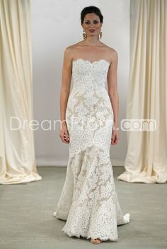 Awesome Trumpet/Mermaid Strapless Floor-Length Court Lace Wedding Dresses