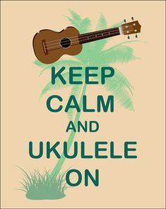 "We donated our signed print ""Keep calm and ukulele on"" to the Volunteer Legal Hawaii's online auction starting now until August 28, 2014. Poverty should not be a barrier to justice."