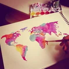 water-color continents