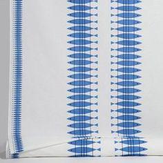 John Lewis Pvc//Oilcloth Nordic Houses Blue White Scandi Per Metre New Boats