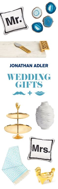 Shop Jonathan Adler's proposals for the perfect wedding registry.
