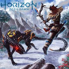 Horizon Zero Dawn by Game Character, Character Design, Game Zero, Horizon Zero Dawn Aloy, Mileena, Fan Art, Cthulhu, Creature Design, Cyberpunk