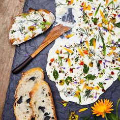 Flower and Herb Butter is part of Edible flowers recipes Josh McFadden knows his way around an edible flower In his cookbook with Martha Holmberg, Six Seasons A New Way with Vegetables (May, - Good Food, Yummy Food, Cooking Recipes, Healthy Recipes, Keto Recipes, Amish Recipes, Dutch Recipes, Easy Cooking, Flower Food