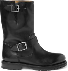 I would LOOOOVE these for riding on the bike.     Jimmy Choo York Leather Biker Boots | MR PORTER