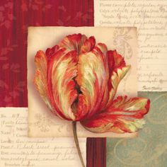 Flores e cartas para decoupage