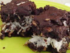 Almond Joy Brownies....homemade!!!