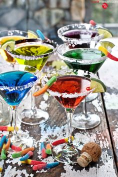 Festive Silver Tequila Margaritas! This Holiday Cocktail Recipe can be custom colored to suit any themed celebration! MarlaMeridith.com ( @marlameridith )