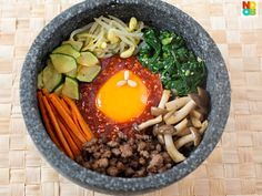 Bibimbap (Korean Mixed Rice) Recipe - Noob Cook Recipes