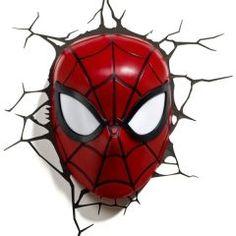 3D Light FX Spider-Man Maske Duvar Lambası
