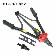 high quality 440mm 17 inch hand riveter pull rivet nut riveting tools with one die of M12 free shipping BT-604 auto remove nut