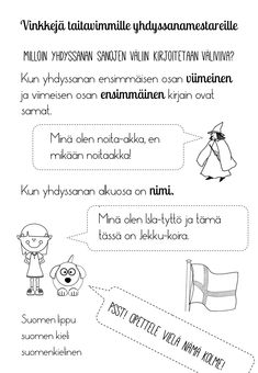 Learn Finnish, Childhood Education, Finland, Fun Facts, Homeschool, Language, Teaching, Writing, Bingo