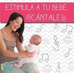 La música ayuda a estimular el sentido auditivo de tu bebé, ¡Cántale! #bebe #estimulacion www.ebebe.mx