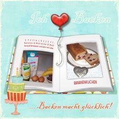 "Backen macht glücklich ;) / Bake makes you happy ;) - ""B""-template by wondertalk.de"