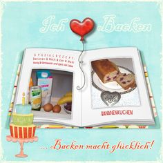 "Backen macht glücklich ;) / Bake makes you happy ;) - ""B""-template by wondertalk.de"