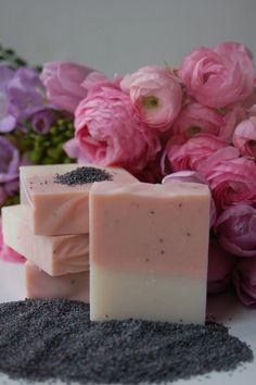 Poppy Rose - lovely handmade Munkholm soap - from Denmark
