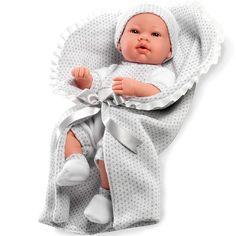 Baby real con mantita es un bebé irresistible, con su mantita parace que quiere que le cojas.