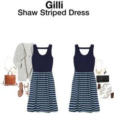 Gilli Shaw Striped Dress
