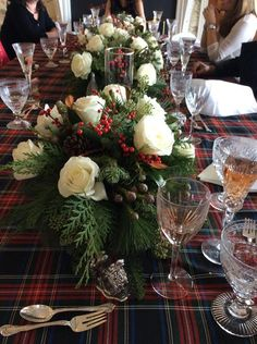 A birthday lunch to remember..... - The Enchanted Home. Love the flower arrangements!