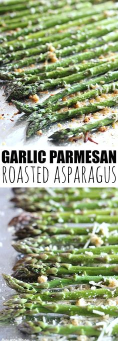 Parmesan Roasted Asparagus This is my favorite way to eat asparagus! Roasted with garlic and topped with parmesan cheese!This is my favorite way to eat asparagus! Roasted with garlic and topped with parmesan cheese! Healthy Snacks, Healthy Eating, Healthy Recipes, Healthy Cooking, Cooking Beets, Bariatric Recipes, Healthy Sides, Dinner Healthy, Cooking Oil
