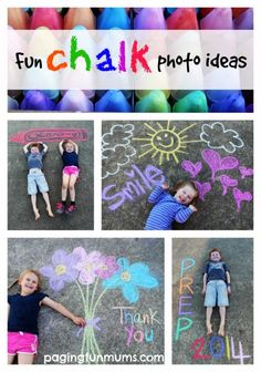 FUN Chalk Photo Ideas!! These make great framed gifts and cards!
