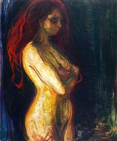 bofransson:    Nude in Profile towards the Right Edvard Munch - 1898