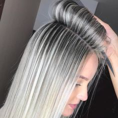 blaine holmes (: The Effective Pictures We Offer You About ash blonde balayage highlights A quality Ash Blonde Balayage, Ash Blonde Hair, Ombre Hair, Platinum Blonde Hair, Gray Hair Highlights, Platinum Blonde Highlights, White Highlights, Love Hair, Hair Trends