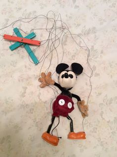 AUTHENTIC 1930'S MICKEY MOUSE MARIONETTE MADE BY HESTWOOD STUDIO  | eBay